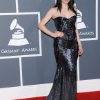 There's Carly Rae Jepsen at the Grammy's, also in black. Insert lame Call me Maybe joke here. 