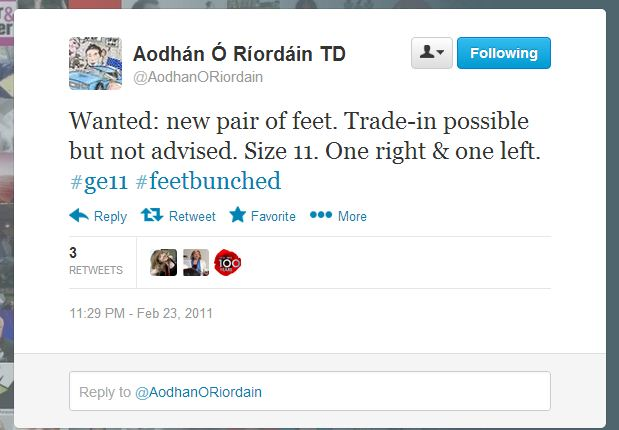 Aodhan O riordan new feet