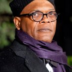 But look, Sam Jackson was obviously going for a win in the Scarf Off. It's purple for goodness sake.