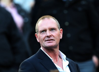 Paul Gascoigne, pictured at St James' Park in 2011.