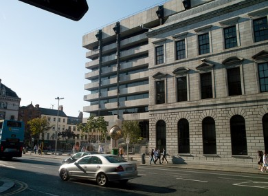 Central Bank of Ireland on Dame Street, Dublin.