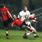 Conor Laverty of Down and Ryan McKenna of Tyrone. Pic: INPHO/Presseye/Andrew Paton