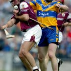 David Tierney, in action here in 2002, continued the tradition of Galway hurlers sporting white boots.