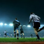 The Dublin players take to the field. Pic: INPHO/Ryan Byrne