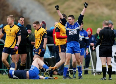 Action from today's semi-final between DIT and DCU.
