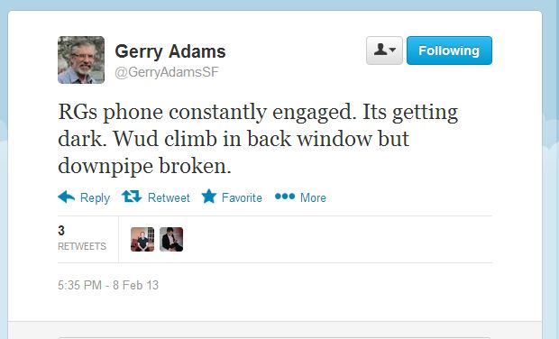 Gerry Adams tweet 2