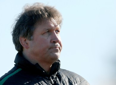 Gert Smal oversees Ireland training on Wednesday.