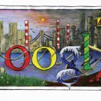 Doodle 4 Google finalist Emma Brady from St. Michael'€™s Holy Faith, Finglas, Dublin.