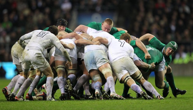 Ireland's scrum in trouble against England 17/3/2012