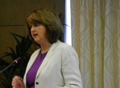 Joan Burton speaking at the seminar this morning