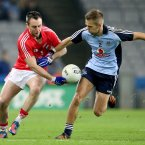 Dublin's Johnny Cooper and Paul Kerrigan of Cork. Pic: INPHO/Cathal Noonan