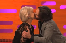 WATCH: Paul Rudd lobbed the gob on Helen Mirren