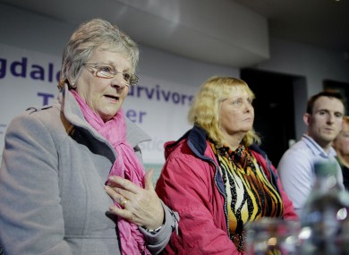 Marina Gambold, Mary Smyth and Stephen O'Riordan of Magdalene Survivors Together