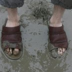 This person who wore slippers (Niall Carson/PA)