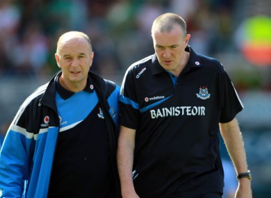 David Hickey with former Dublin boss Pat Gilroy.
