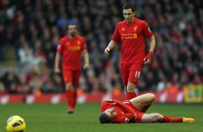 Fabio Borini out for season, Liverpool boss Brendan Rodgers confirms