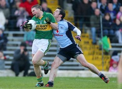 Kerry's Tomas O'Se and Michael Darragh McAuley of Dublin.