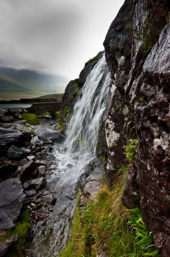 Waterfall near the Conor Pass