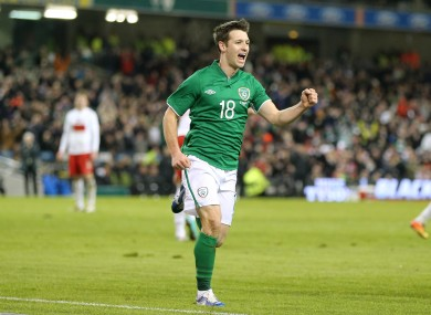 Hoolahan after his goal. 