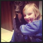 Jennifer's daughter Ruby has lots of love to give the puppy.
