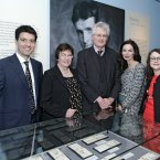 Pictured: Donal Maguire, curator of the exhibition, Catriona Yeats, grand niece and goddaughter of Jack B Yeats, Caroline Sleiman, of Hennessy, Sean Rainbird, director of the National Gallery of Ireland and Pauline Swords, curator of the exhibition, at the  opening of the exhibition