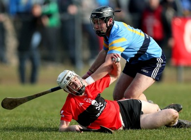 UCC's Brian Lawton and Bill O'Carroll of UCD.