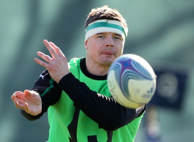 Brian O'Driscoll trains earlier this week.