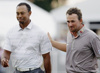 Tiger Woods and Graeme McDowell looking like two men that just stepped off a long-distance flight.