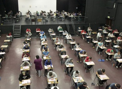 Students sitting the Leaving Certificate at Belvedere College in Dublin