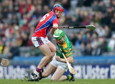 St. Thomas' Darragh Burke and Conor Mahon of Kilcormac-Killoughey.