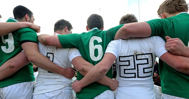 Snapshot: Ireland and England starlets stand shoulder-to-shoulder after Ashbourne battle