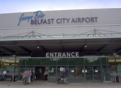 The runway at George Best Belfast City Airport is currently closed (file photo).
