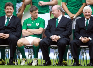 Happier times: O'Gara and Kidney before the 2011 World Cup.