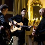 The Script perform in ras an Uachtarin at the filming of 'Glaoch - The President's Call'.