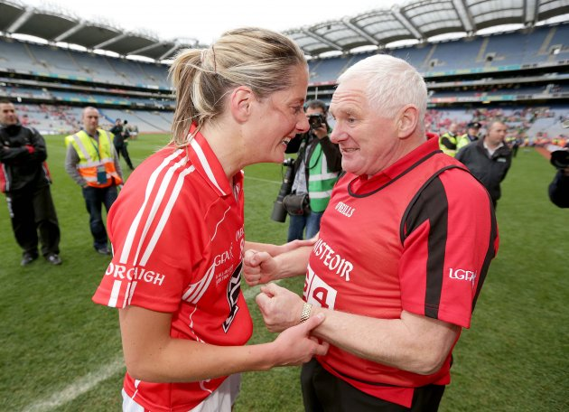 Juliet Murphy celebrates with Eamonn Ryan 7/10/2012