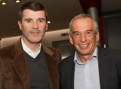 Keane and Prof Nic Jones last night. 