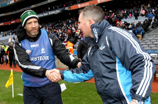 Kieran McGeeney and Jim Gavin 10/3/2013