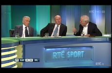VIDEO: Liam Brady and Eamon Dunphy clashed again after the game tonight