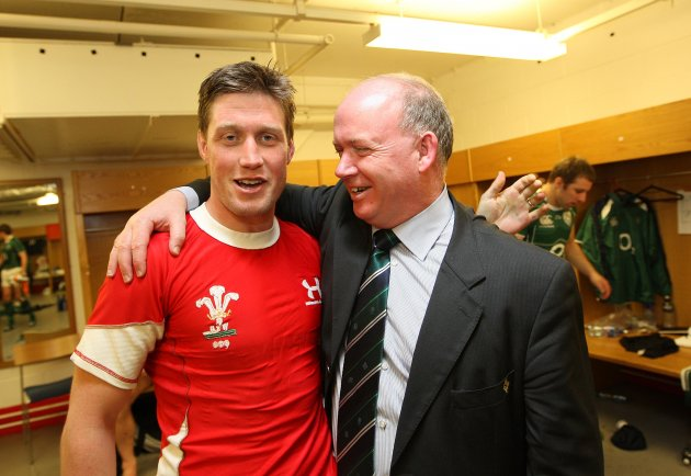 Ronan O'Gara with head coach Declan Kidney 21/3/2009