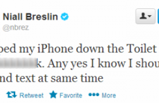 Tweet Sweeper: Bressie's phone comes to a watery end