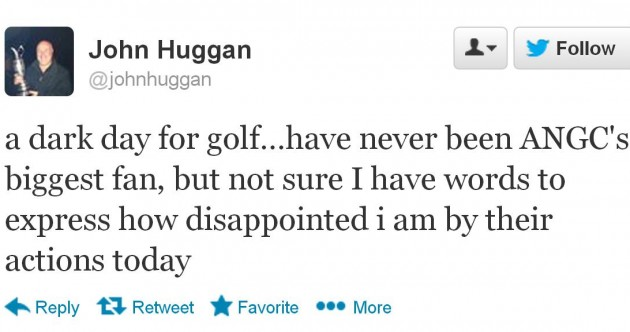 15 people who are not happy with the Tiger Woods two-shot penalty decision