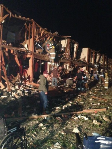 Photos: 'Devastation' at scene of fertiliser plant explosion in Texas