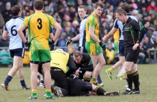 The accidental clash which injured GAA ref Padraig Hughes