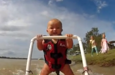 VIDEO: Baby learns to waterski in adorable fashion