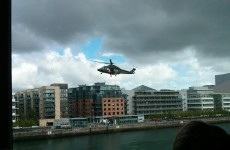 Why was this helicopter flying so low in Dublin today?