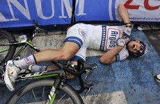 This is what it feels like to sprint for over a kilometre and win a stage of the Giro