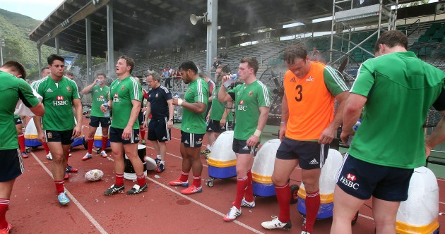 Hot and heavy: Lions get back to business with training in humid Hong Kong