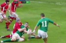 Simon Zebo on that flick: 'I do it every day in training'