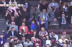VIDEO: Alex Ferguson did the Mexican wave at Old Trafford today