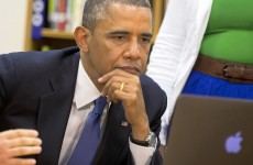 5 photos of Barack Obama reading your email